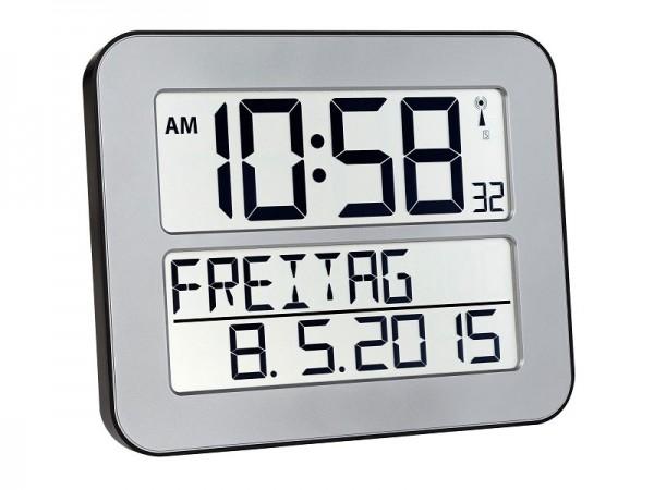 TFA 60.4512.54 Time Line Max Funkuhr silber