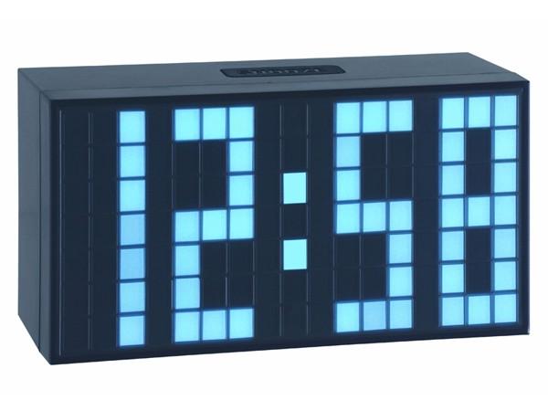 TFA 98.1082.02 TIME BLOCK eisblau Elektronischer Wecker