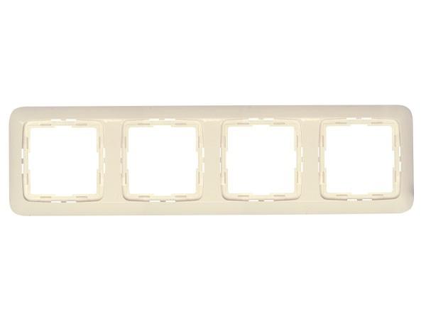 Abdeckrahmen 4-fach Serie Rivo creme-weiß Kopp (404401085)