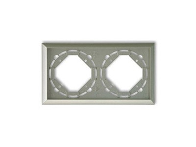 REV Ritter Düwi TerraLuxe 2-fach Rahmen, platin (01275)