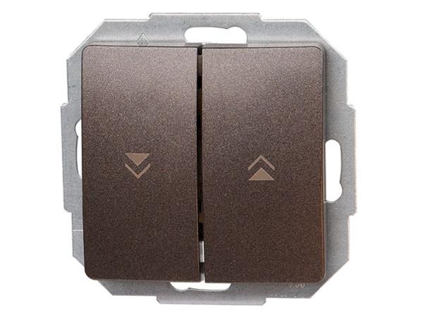 Jalousieschalter Serie Paris palisander-braun - Kopp (651526085)