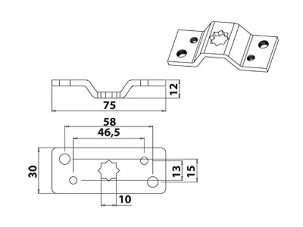 Vestamatic Vestaline Lager WL-Standard 10mm für Motorserie VL-35 45mm Vierkant-Welle (40000130)