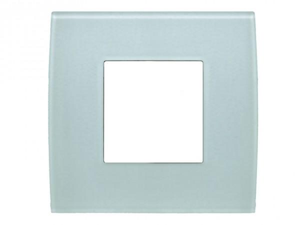 TEM Serie Modul Plus PURE Glas Abdeckrahmen 2M Eisgrün (OP20GG-U)