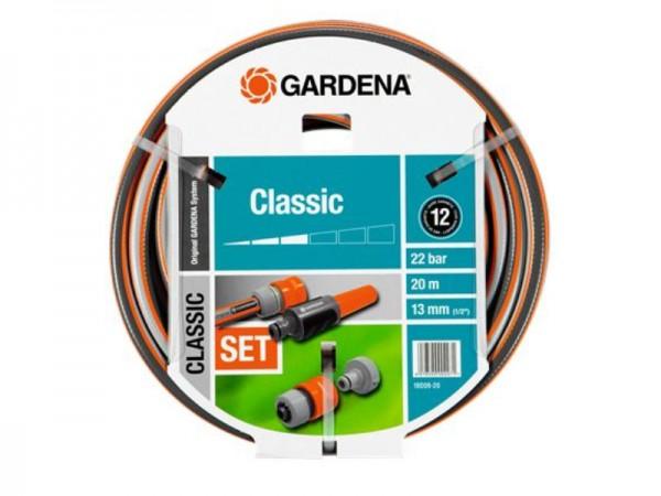 Gardena Classic Schlauch 13mm (1/2) 20m mit Systemteilen (18008-20)