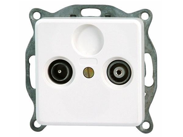 Antennensteckdose TV/RF weiß / Serie Milano - Kopp (917013087)