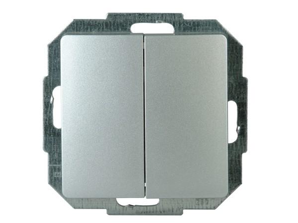 Wechsel/Wechselschalter Serie Paris silber - Kopp (650320082)