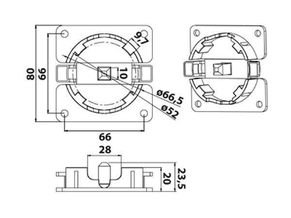 Vestamatic Vestaline Lager WL-Click / 45-80 für Motorserie VL-45mm (40000170)