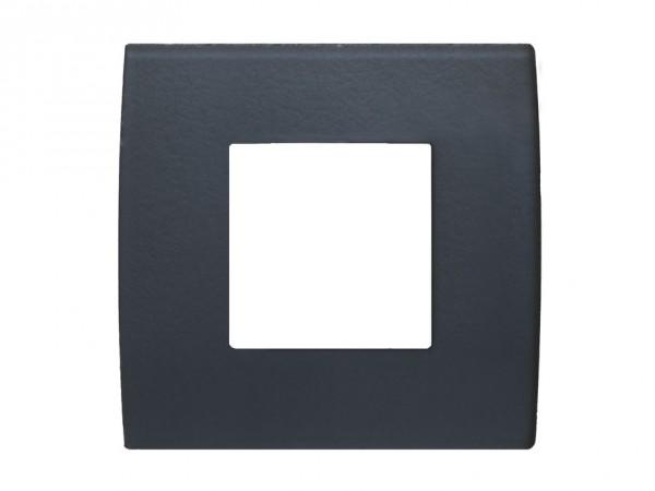 TEM Serie Modul Plus PURE Glas Abdeckrahmen 2M Eisgrau (OP20GY-U)
