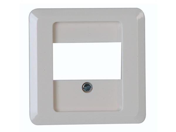 Abdeckung für TAE-Telefon-Anschlussdose weiß / Serie Milano - Kopp (358113184)