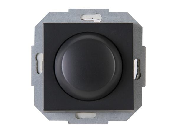 Elektronischer Dimmer mit Wippen-Wechselschalter (Phasenabschnitt) Serie Athenis anthrazit Kopp