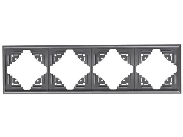 Abdeckrahmen 4-fach silber-anthrazit Serie Malta - Kopp (309415064)