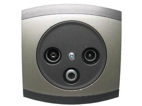 Antennen-Steckdose 3 Ausgänge Serie Modena - REV-Ritter (00852208)