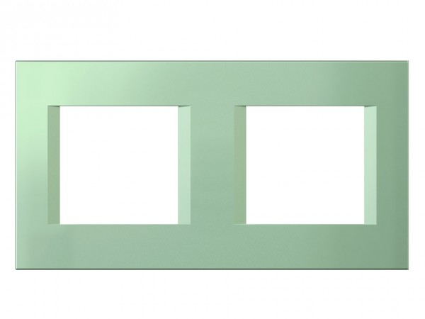 TEM Serie Modul Plus LINE Abdeckrahmen 2x2M minzgrün (OL24MG-U)