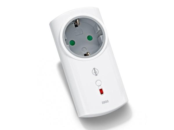 Intertechno ITLR-3500T Funk Zwischenstecker mit Abschaltautomatik im Soft Design