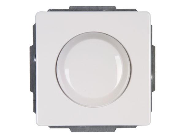 Elektronischer Dimmer mit Wippen-Wechselschalter (Phasenabschnitt) Serie Venedig rein-weiß Kopp