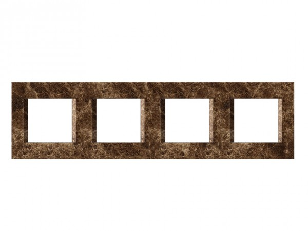 TEM Serie Modul Plus LINE Abdeckrahmen 4x2M steinsmaragd (OL28SE-U)