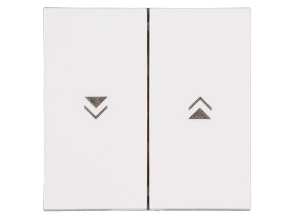 Flächendoppelwippe mit Pfeilsymbolen Objekt HK 07 rein-weiß Kopp (490388008)