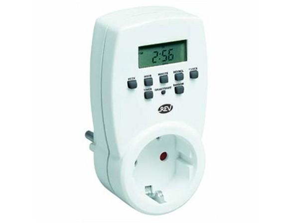 Zeitschaltuhr digital weiß - REV-Ritter (0025300103)