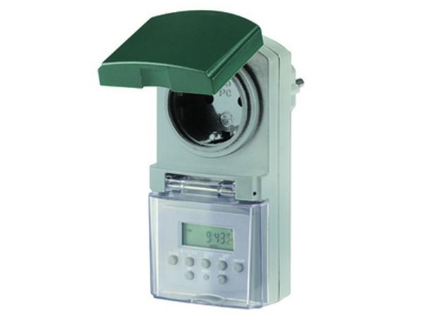 Zeitschaltuhr digital Außen grau-grün - REV-Ritter (0025750409)
