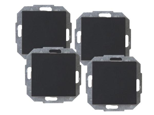 PROFI-PACK: 4 x Universalschalter (Aus- und Wechselschalter) Serie Athenis anthrazit Kopp 589615055