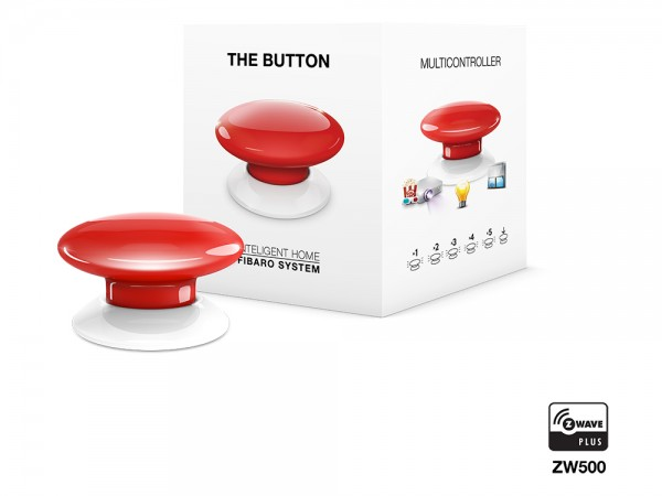 FIBARO The Button Zwave Plus rot